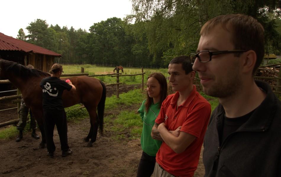 Oporządzanie koni przed treningiem