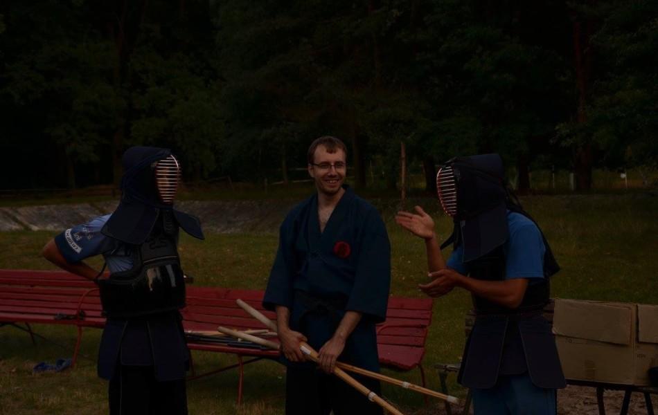 Podczas treningu Kenjutsu na zdjęciu Mirosław Chlebosz 4 Dan