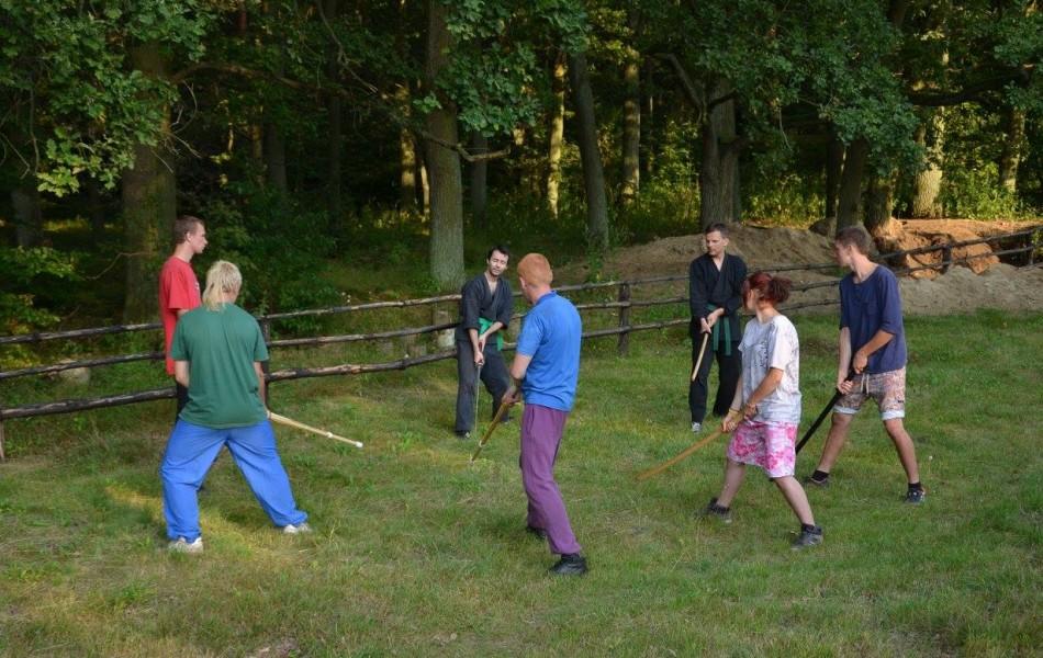 Trening w grupach na zdjęciu Mateusz Górecki i Grzegorz Kocielski